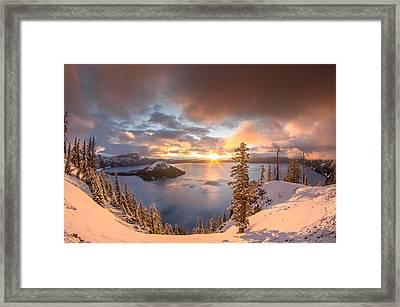 Sunrise After Summer Snowfall Framed Print