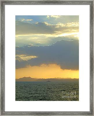 Sunrise After The Typhoon Framed Print