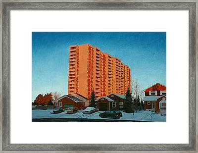 Sunrise Ajax Framed Print by Allan OMarra