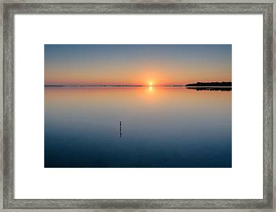 Sunrise Along The Pinellas Bayway Framed Print