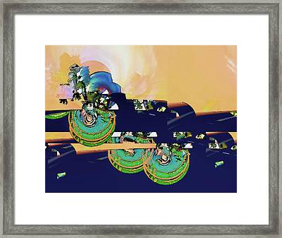 Sunrise And A Mystery Framed Print