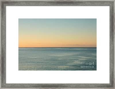 Sunrise And Serene Ocean Framed Print