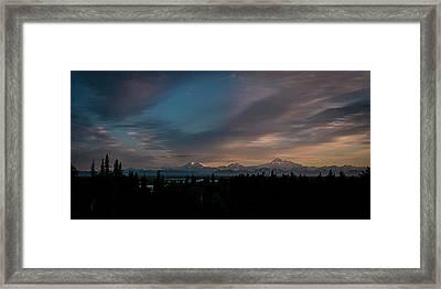 Sunrise And The Alaska Range Framed Print