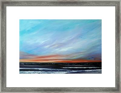 Sunrise And The Morning Star Eastern Shore Framed Print