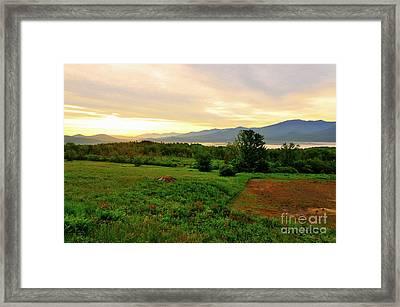 Sunrise And Undercast Framed Print