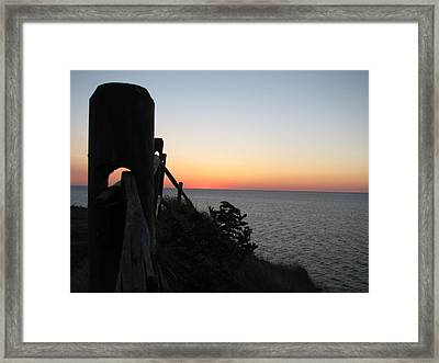 Sunrise Anticipation  Framed Print