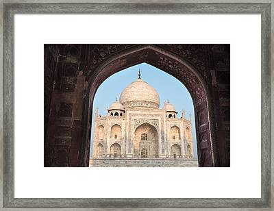 Sunrise Arches Of The Taj Mahal Framed Print