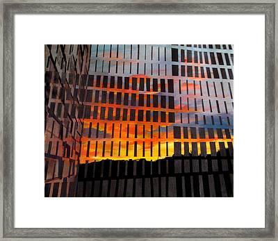 Sunrise Framed Print by Art Nomad Sandra  Hansen