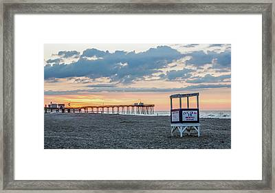Sunrise At 16th Street Ocean City New Jersey Framed Print