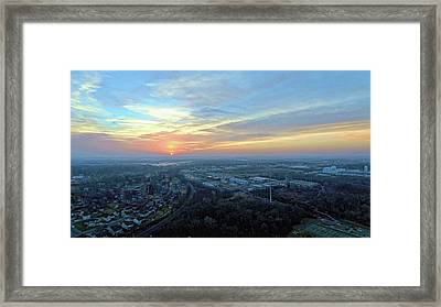Sunrise At 400 Agl Framed Print by Dave Luebbert