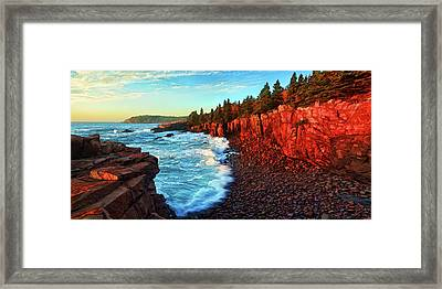 Sunrise At Acadia Framed Print