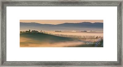 Sunrise At Agriturismo Poggio Covili Framed Print