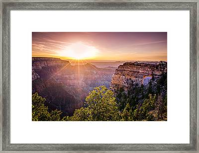 Sunrise At Angel's Window Grand Canyon Framed Print by Scott McGuire