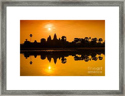 Sunrise At Angkor Wat Framed Print