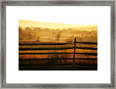 Sunrise At Antietam Framed Print