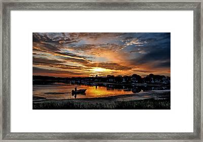 Sunrise At Back Cove Framed Print