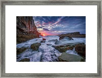 Sunrise At Bald Head Cliff Framed Print