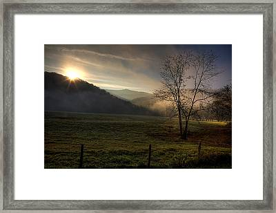 Framed Print featuring the photograph Sunrise At Big Hollow by Michael Dougherty
