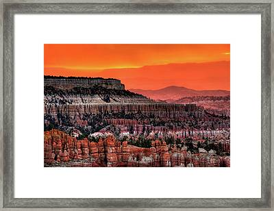 Sunrise At Bryce Canyon Framed Print by Photography Aubrey Stoll
