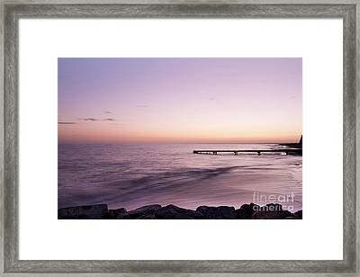 Framed Print featuring the photograph Sunrise At Busselton by Ivy Ho