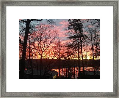Sunrise At Carolina Trace Framed Print