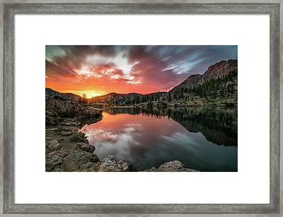 Sunrise At Cecret Lake Framed Print