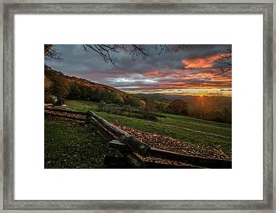 Sunrise At Cone House Framed Print