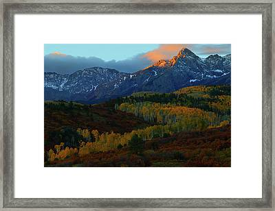 Framed Print featuring the photograph Sunrise At Dallas Divide During Autumn by Jetson Nguyen