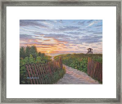 Sunrise At Delray Beach Framed Print by Bruce Dumas