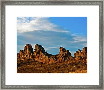 Sunrise At Devil's Backbone Framed Print