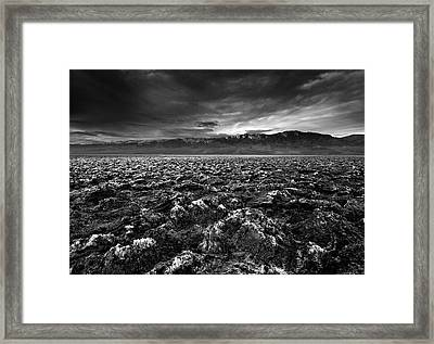 Sunrise At Devil's Golf Course, Death Valley, Deat Framed Print by David Kiene