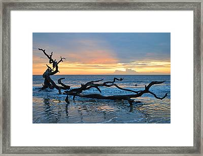 Sunrise At Driftwood Beach 1.4 Framed Print by Bruce Gourley