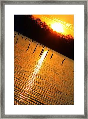 Sunrise At East Fork Oh Framed Print