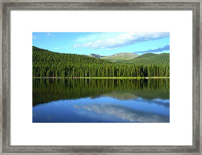 Framed Print featuring the photograph Sunrise At Echo Lake by Marie Leslie