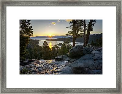 Sunrise At Emerald Bay In Lake Tahoe Framed Print by James Udall