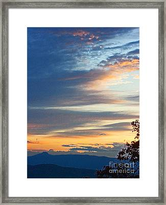 Sunrise At Flatrock Framed Print by Beebe  Barksdale-Bruner