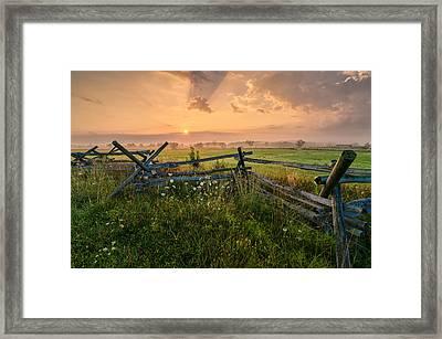 Sunrise At Gettysburg National Park Framed Print