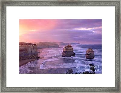 Sunrise At Gibson Steps Framed Print by Rosy Kueng