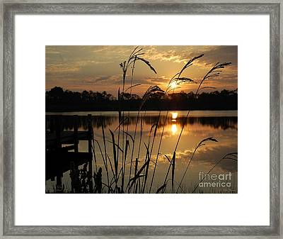 Sunrise At Grayton Beach Framed Print