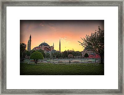 Sunrise At Hagia Sophia Framed Print