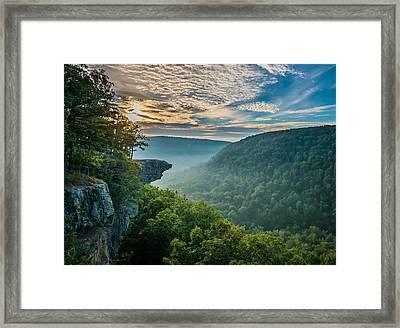 Sunrise At Hawksbill Crag Framed Print