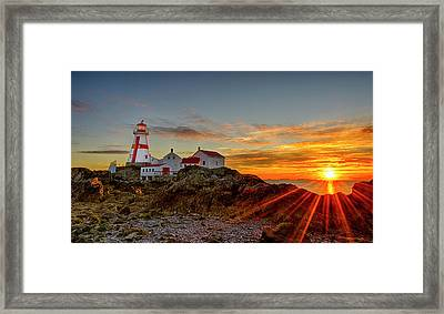 Sunrise At Head Harbor Lighthouse Framed Print