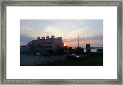 Sunrise At Hooper's Crab House Framed Print