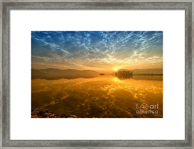 Sunrise At Jal Mahal Framed Print