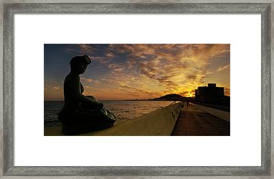 Sunrise At Jeju Island Framed Print by Ng Hock How