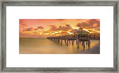 Framed Print featuring the photograph Sunrise At Juno Beach by Francisco Gomez