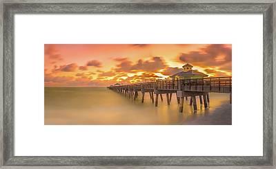 Sunrise At Juno Beach Framed Print
