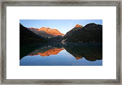 Sunrise At Lac D'oredon Framed Print by Stephen Taylor