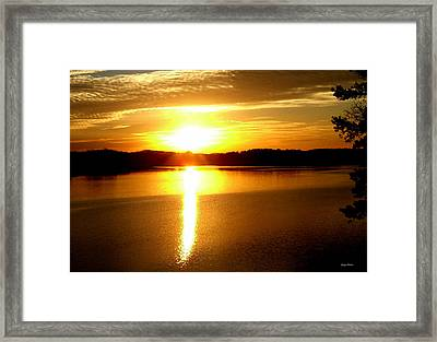 Sunrise At Lake Lanier 001 Framed Print