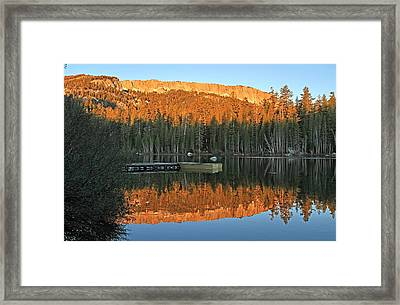 Framed Print featuring the photograph Sunrise At Lake Mamie by Donna Kennedy